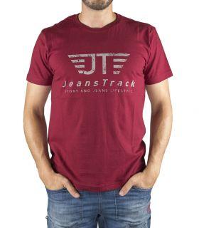 Camiseta Básica JeansTrack Rojo Hombre