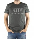 JeansTrack men's basic grey cotton T-shirt