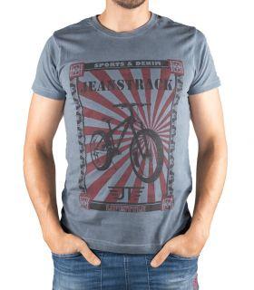 T-shirt Coton Senda Bleu Homme