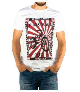 T-shirt Coton Senda Blanc Homme