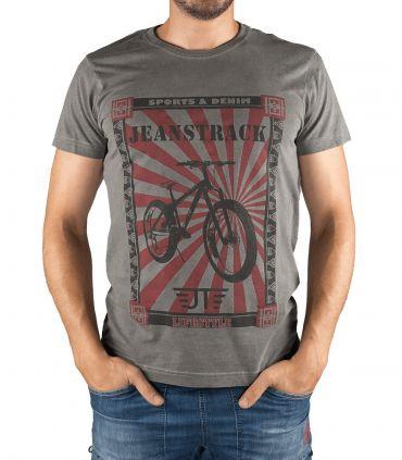 Camiseta Algodón Senda Caqui Hombre