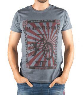 T-shirt Coton Senda Gris Homme