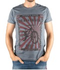 Senda men's grey bikking cotton T-shirt