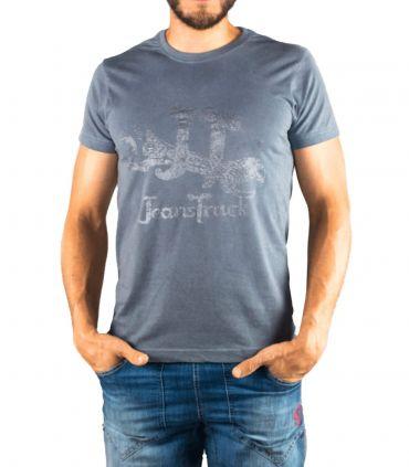 Camiseta Algodón Eina Azul Hombre