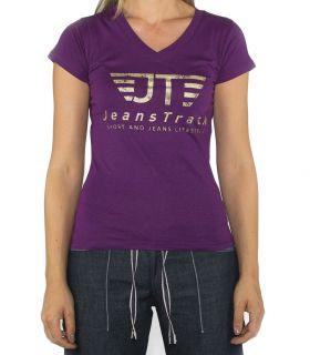 Camiseta Básica JeansTrack Lila Mujer