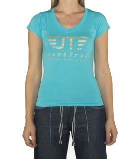 Camiseta Básica JeansTrack Turquesa Mujer