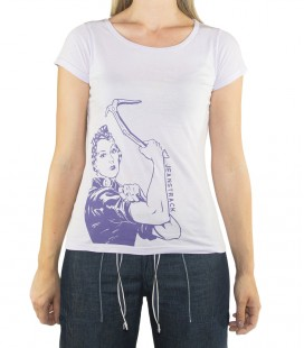 Morella women's lilac climbing and trekking cotton T-shirt