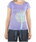 Nature women's lilac climbing and trekking cotton T-shirt