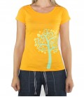 Nature women's orange climbing and trekking cotton T-shirt