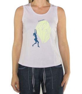 Camiseta Escalada - Trekking Peiro Lila Mujer