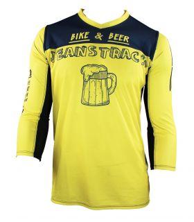 T-shirt technique Bike & bière jaune 3/4
