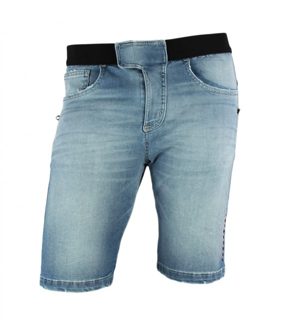 Turia BR jeans stone men's climbing and trekking shorts