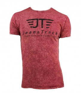 T-Shirt basique JeansTrack Snow Rouge Homme