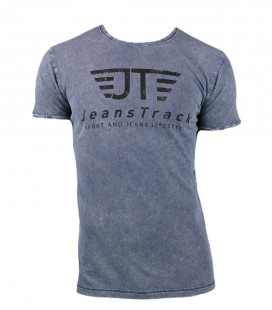 Jeanstrack men's basic snow blue cotton t-shirt