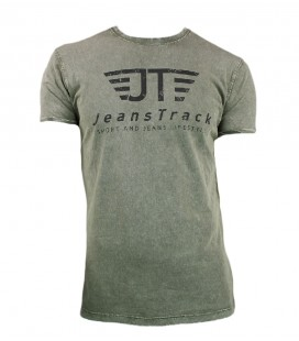 Jeanstrack men's basic snow khaki cotton t-shirt