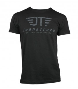 JeansTrack men's basic black cotton T-shirt