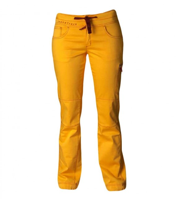 Senia women's orange climbing and trekking pants