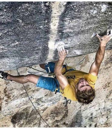 Vuit men's orange climbing and trekking cotton T-shirt