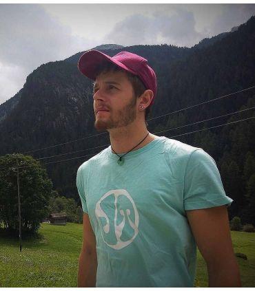 Vuit men's blue climbing and trekking cotton T-shirt