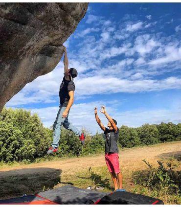 Vuit men's black climbing and trekking cotton T-shirt
