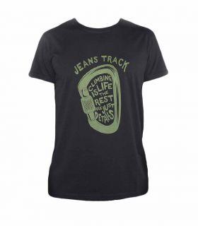 Camiseta Escalada - Trekking Presa Negro Hombre