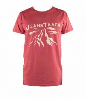 Camiseta Trekking - Escalada Cima Rojo Hombre