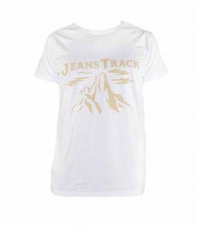 T-shirt Trekking - Escalade Cima Blanc Homme