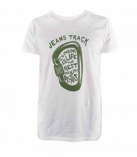 Camiseta Escalada - Trekking Presa Blanco Hombre