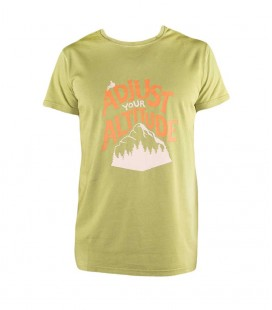 Rope men's green climbing and trekking cotton T-shirt