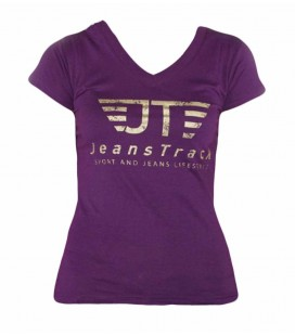 JeansTrack women's basic lilac cotton T-shirt
