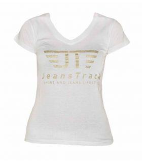 Camiseta Básica JeansTrack Blanco Mujer