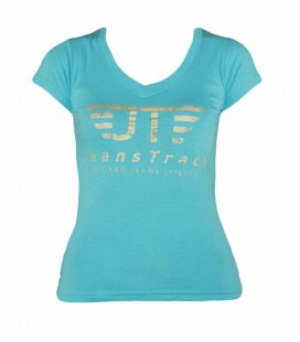 T-shirt basique JeansTrack Turquoise Femme