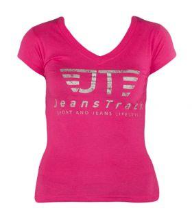 Camiseta Básica JeansTrack Fucsia Mujer