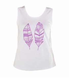 Enya women's lilac climbing and trekking cotton vest