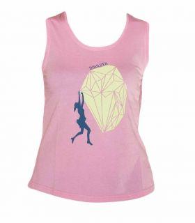 Camiseta Escalada - Trekking Peiro Rosa Mujer