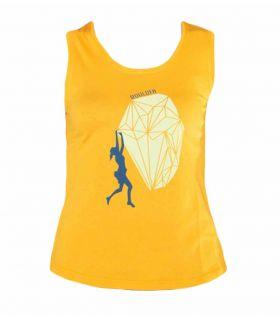 Camiseta Escalada - Trekking Peiro Naranja Mujer