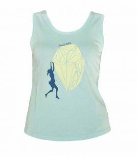 Camiseta Escalada - Trekking Peiro Turquesa Mujer