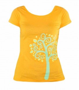 T-shirt Trekking - Escalade Nature Orange Femme