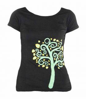 T-shirt Trekking - Escalade Nature Noir Femme