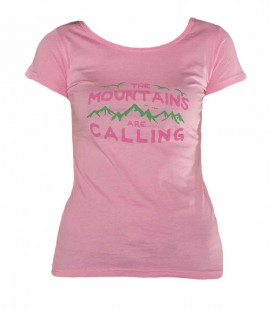 Geerre women pink climbing and trekking cotton T-shirt