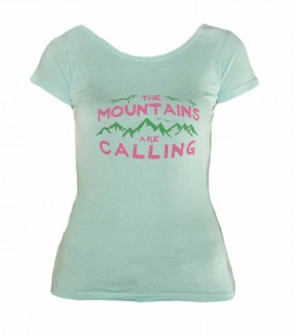Geerre women's blue climbing and trekking cotton T-shirt