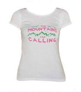 Geerre women's white climbing and trekking cotton T-shirt