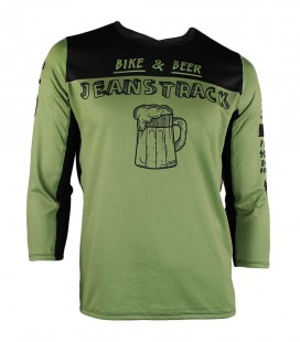 Bike&Beer green technical (MTB) 3/4 sleeve T-shirt