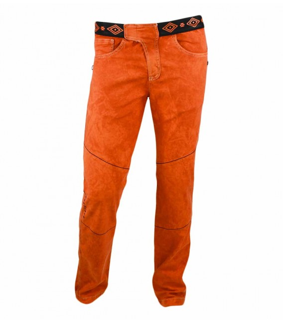 Turia men's orange ethnic climbing and trekking trousers