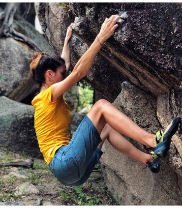 Senia BR Bleach women climbing and trekking jeans shorts
