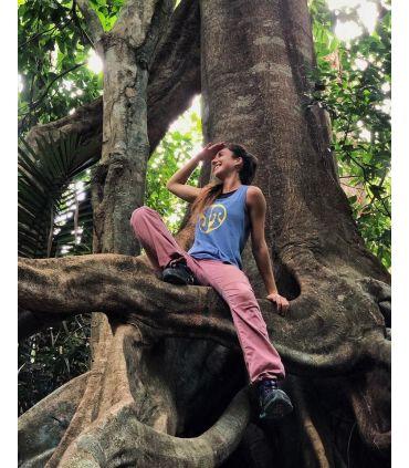 Senia women's pink climbing and trekking pants