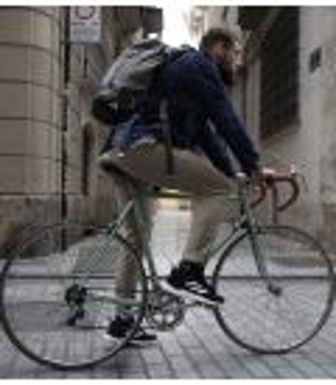 Amsterdam Beige men's urban cycling trousers