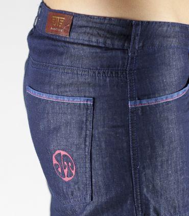 Cervol navy women's outdoor denim pants