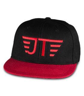 Jay black-red flat visor cap