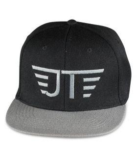Jay black-grey flat visor cap
